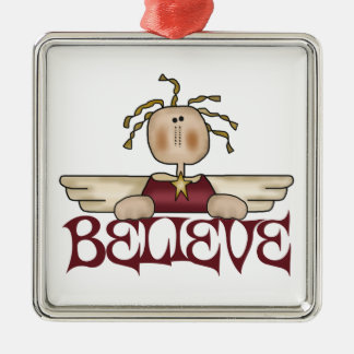 Believe Angel Christmas Ornament