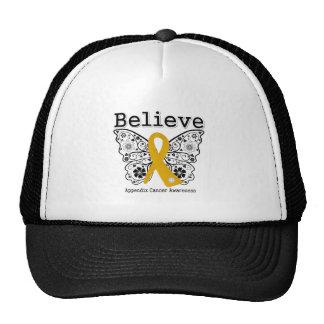 Believe - Appendix Cancer  Butterfly Hats
