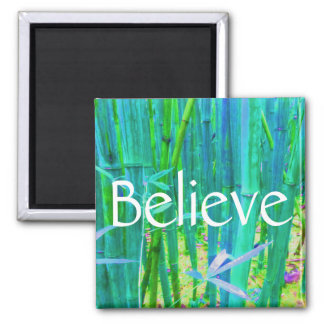 Believe Bamboo Blue and Green Magnet