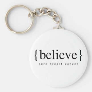 Believe Basic Round Button Key Ring
