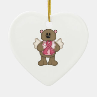 Believe Bear (brown) Christmas Ornament