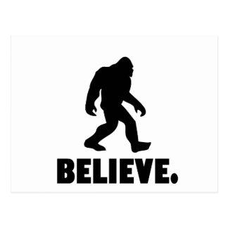 Believe | Bigfoot | Sasquatch Postcard