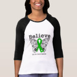 Believe - Bile Duct Cancer Butterfly T-shirt