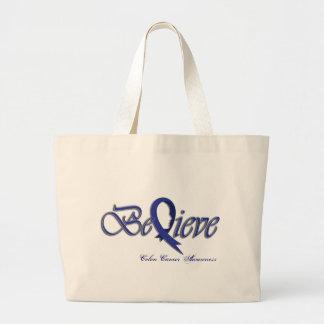 Believe (Blue) Jumbo Tote Bag
