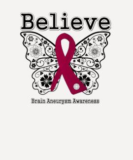 Believe Brain Aneurysm Awareness Tee Shirt