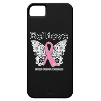 Believe - Breast Cancer Butterfly iPhone 5 Cover