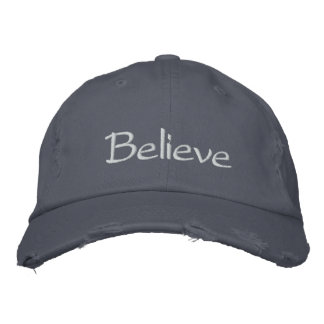 """""""Believe"""" Cap Embroidered Hats"""