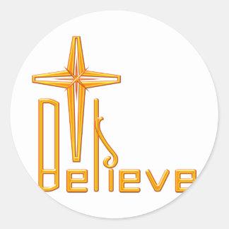 Believe Christian Stickers