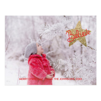 Believe Christmas Star | Holiday Postcard