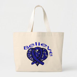 Believe Colon Cancer Jumbo Tote Bag