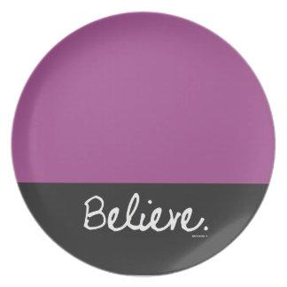 Believe Color Block Plate