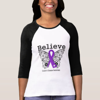 Believe Crohns Disease Awareness T Shirt