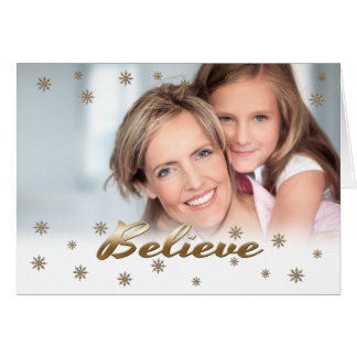 Believe. Custom Christmas Photo Cards