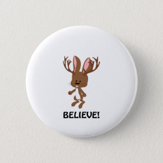 Believe! Cute Jackalope 6 Cm Round Badge