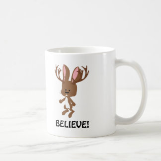 Believe! Cute Jackalope Coffee Mug