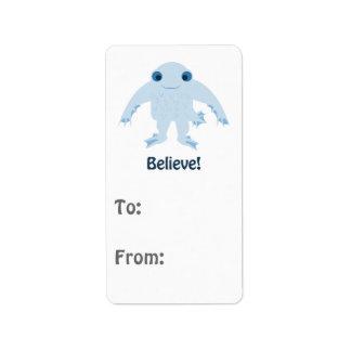 Believe! Cute Ningen Address Label
