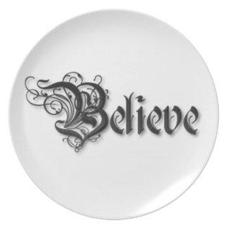 Believe Design 2 Plate