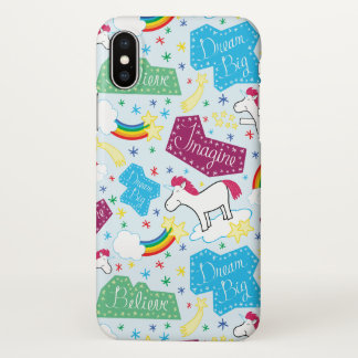 Believe, Dream Big, Imagine Unicorn Phone Case