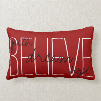 Believe Dream Faith Hope Throw Pillow