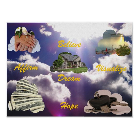 Believe, Dream, Hope, Affirm, Visualise Poster