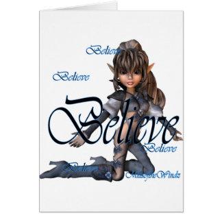 Believe Elf Card
