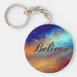 Believe Encouragement Expression Keychain
