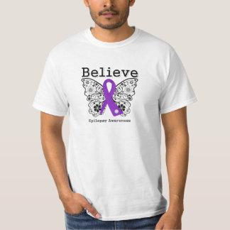 Believe Epilepsy Awareness T Shirts