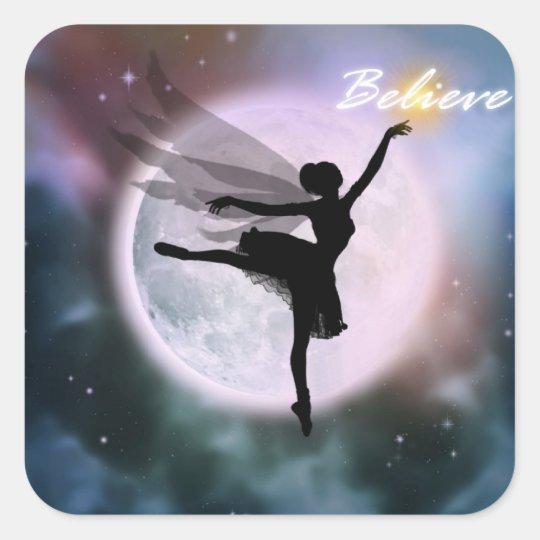 Believe fairy dance stickers