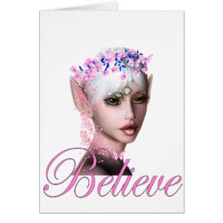 * Believe Fairy Elf 1 Greeting Cards