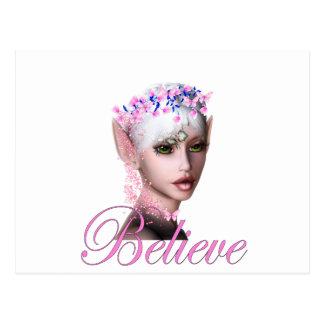 * Believe Fairy Elf 1 Postcard