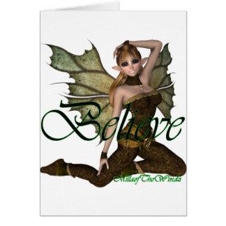 *Believe Fairy Elf 2 Greeting Card