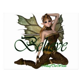 Believe Fairy Elf 2 Post Cards