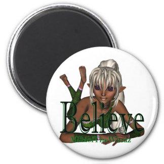 Believe Fairy lyn Dwn Fridge Magnets