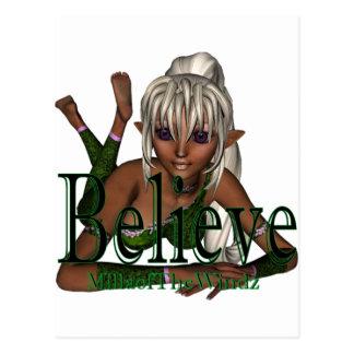 * Believe Fairy lyn Dwn Postcard