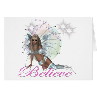 Believe - Fairy Moon Greeting Card