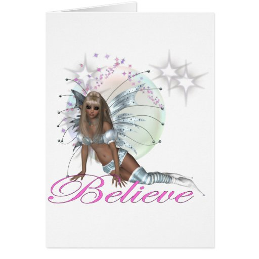 * Believe -  Fairy Moon Greeting Card
