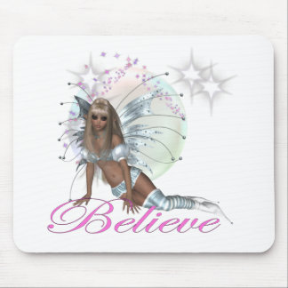 Believe - Fairy Moon Mouse Pads