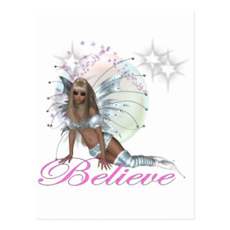 * Believe -  Fairy Moon Postcard