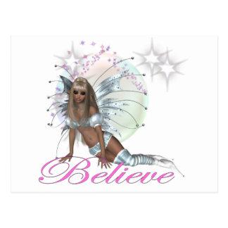Believe - Fairy Moon Post Card