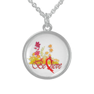 "Believe ""Flower-Necklace-Red"""