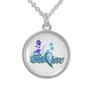 "Believe ""Flower-Necklace-Teal"""