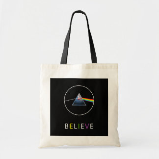 BELIEVE-Flying Pig in Prism Tote Bag