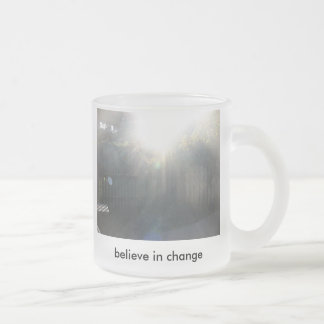 believe frosted glass coffee mug