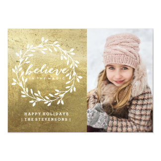 Believe | Golden Holiday Card
