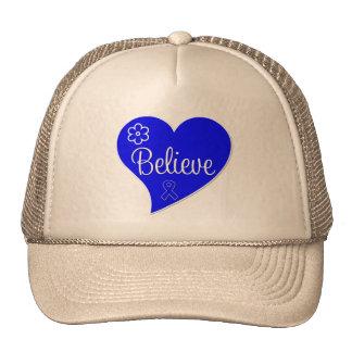 Believe Heart Anal Cancer Mesh Hat