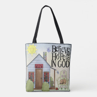 Believe Hope Trust in God All Over Print Tote Bag
