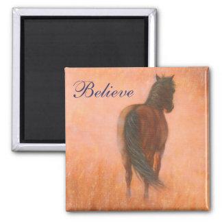 Believe horse magnet