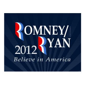 Believe in America, Romney/Ryan 2012 Postcard