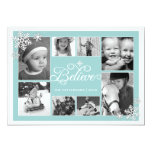 Believe in Christmas Snowflakes 8 Photo Card 13 Cm X 18 Cm Invitation Card