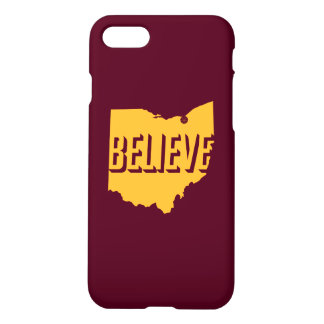 Believe in Cleveland iPhone 7 Case Gold/Maroon
